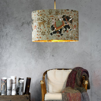 Hindustan Aquamarine Drum Ceiling Light