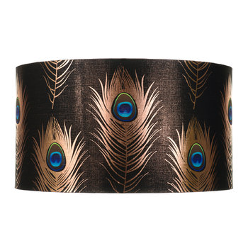 Peacock Feathers Drum Lamp Shade