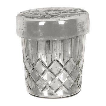 Silver Cut Glass Candle
