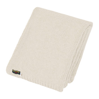 Knitted Alpaca Throw - Cream