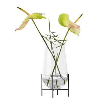 Echasse Vase - Transparent/Bronziertes Messing