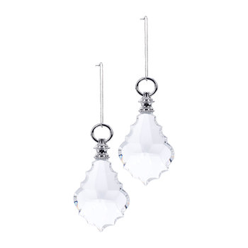 Chandelier Crystal Tree Decoration - Set of 2 - Silver