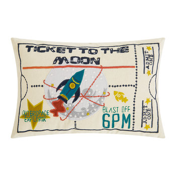 Ticket To The Moon Cushion
