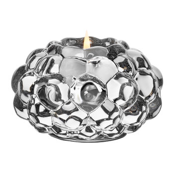 Raspberry Votive Glass Tealight Holder - Clear