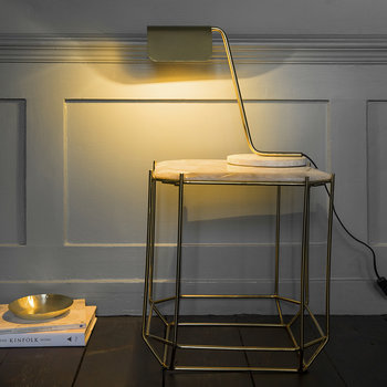 Sloped Table Lamp - Gold & Marble
