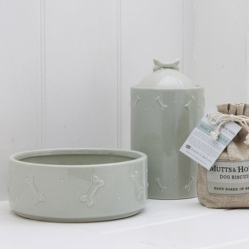 Ceramic Biscuit Jar - Sage Green