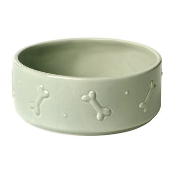 Ceramic Dog Bowl - Sage Green