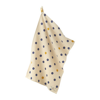Kitchen Tea Towel Classic - Set of 2 - White Spot