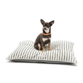 Stripe Brushed Cotton Pillow Bed - Flint
