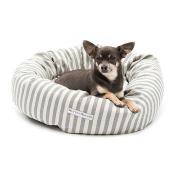 Stripe Brushed Cotton Donut Bed - Flint