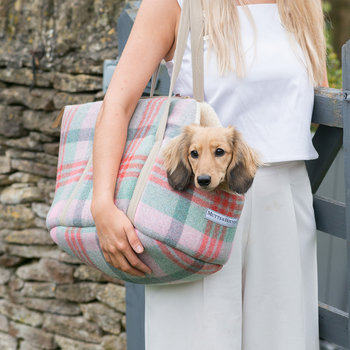 Macaroon Tweed Dog Carrier