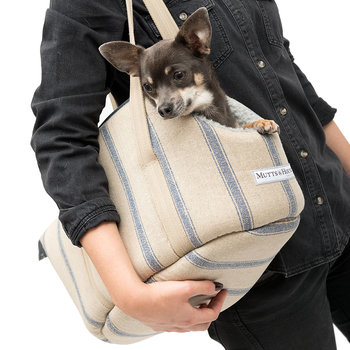 Nordic Stripe Dog Carrier - Navy