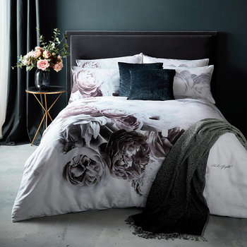 Aria Quilt Cover - Grey
