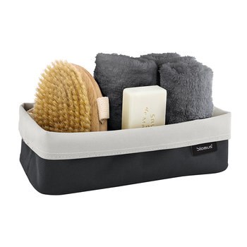 Ara Reversible Small Storage Basket - Anthracite