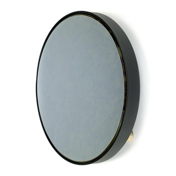Studio Simple Round Wall Mirror/Tray - Black