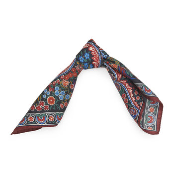 Tanjore Gardens Scarf - 45x45cm - Red