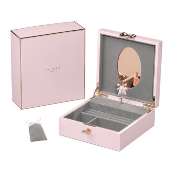 Jewellery Box with Musical Ballerina - Pink