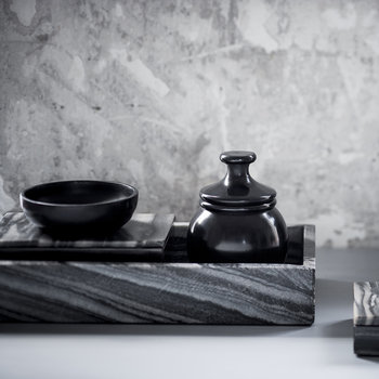 Marble Rectangle Tray - Grey