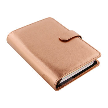 Personal Saffiano Notebook - Rose Gold