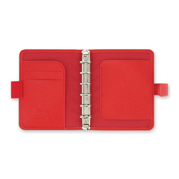 Saffiano Pocket Organiser - Poppy