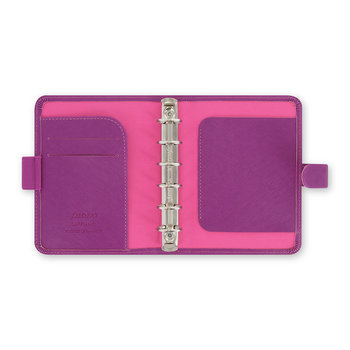 Saffiano Pocket Organiser - Rasberry