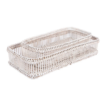 Alice Tray - Set of 2 - White