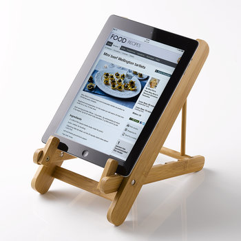 Compact Folding Cookbook and Tablet Stand