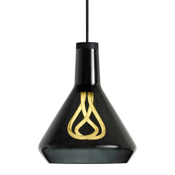Drop Top Shade and 001 LED Bulb - Black