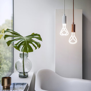 Pendant Set with 001 LED Bulb - Copper