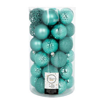Set of 37 Assorted Baubles - Turquoise
