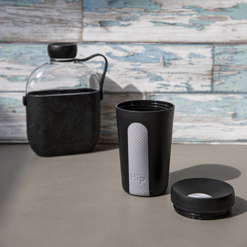 Glass Travel Cup - Midnight & Stone