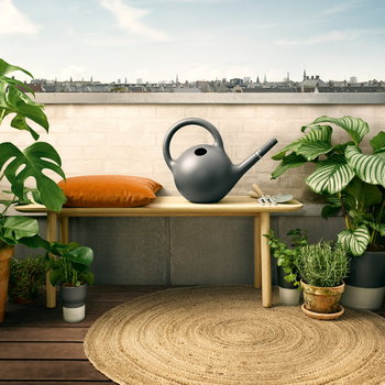 Globe Watering Can - Dark Gray
