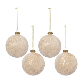 Marble Bauble - Set of 4 - Bronze