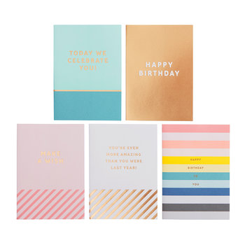 Inspiration Birthday Greeting Cards - 5 Pack