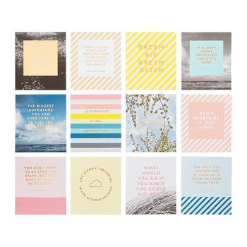 Inspiration Quote Cards with Wooden Stand - 12 Pack