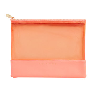 Luxury Leather Trim Pouch