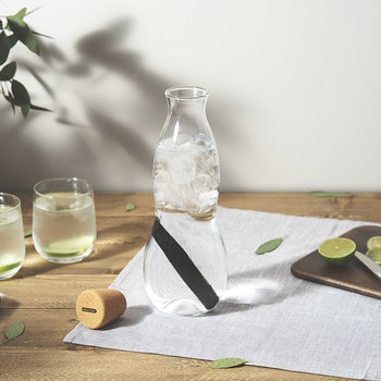 Eau Carafe Water Bottle with Charcoal Filter