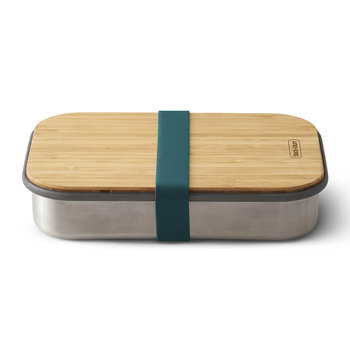 Stainless Steel Sandwich Box with Wooden Lid - Ocean
