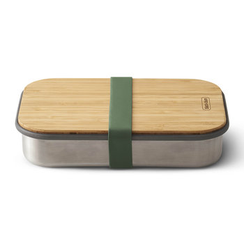 Stainless Steel Sandwich Box with Wooden Lid - Olive