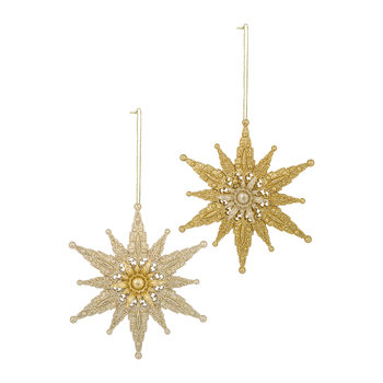 Star Tree Decoration - Set of 2 - Gold
