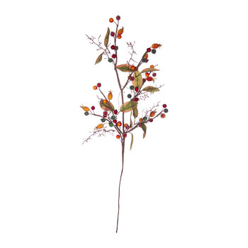 Rosehip Leaf Artificial Stem