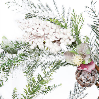 Snowy Hellebore and Fir Garland