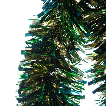 Tricolour Tinsel - Blue/Gold/Green