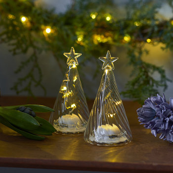 Wave Tree with Lights - Set of 2
