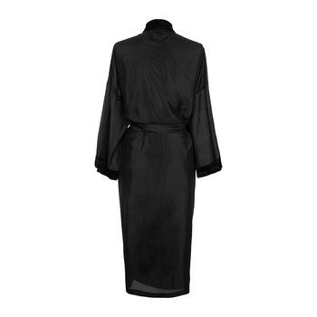 Silk Bathrobe - Black