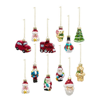 Mini Shapes Tree Decoration - Set of 12