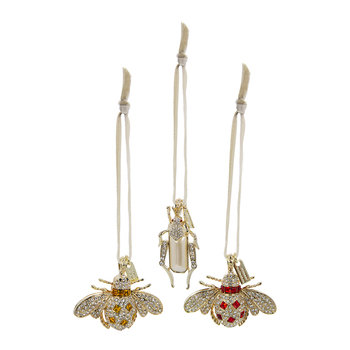 Jeweled Insect Tree Decoration - Set of 3