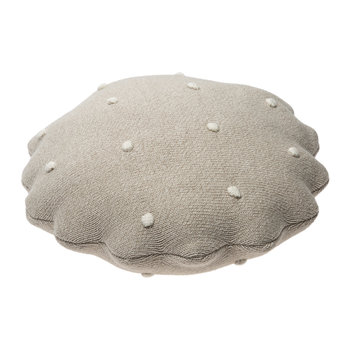Round Biscuit Knitted Pillow