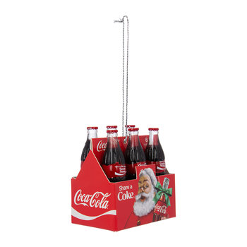 6 Pack Coco-Cola Bottles Tree Decoration
