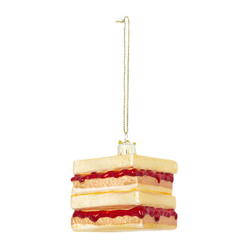 Peanut Butter and Jelly Sandwich and Jars Tree Decoration